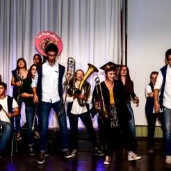 Fanfare sur scène pour la remise des diplômes 2018