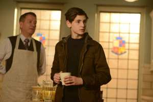 "GOTHAM: L-R: Sean Pertwee and David Mazouz in the ""Wrath of the Villains: Into The Woods"" episode of GOTHAM airing Monday, April, 11 (8:00-9:01 PM ET/PT) on FOX. ©2016 Fox Broadcasting Co. Cr: FOX"