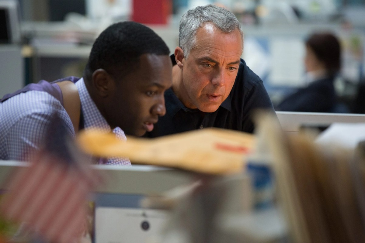 """Bosch: Season 3"" - (L to R) Jamie Hector as Jerry Edgar, Titus Welliver as Harry Bosch"