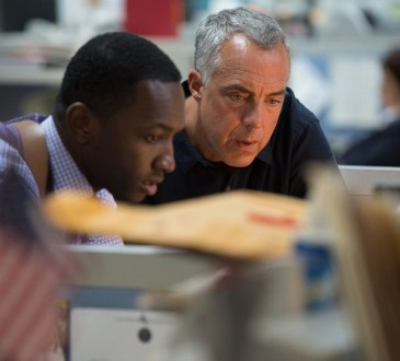 """""""Bosch: Season 3"""" - (L to R) Jamie Hector as Jerry Edgar, Titus Welliver as Harry Bosch"""