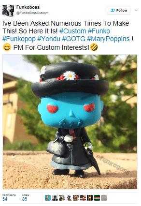 Funkoboss Creates Yondu Poppins Funko Pop Fan Fest