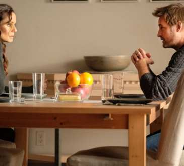 "COLONY -- ""Sea Spray"" Episode 310 -- Pictured: (l-r) Sarah Wayne Callies as Katie Bowman, Josh Holloway as Will Bowman -- (Photo by: Eric Milner/USA Network)"