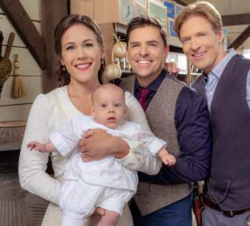 Photo: Erin Krakow, Kavan Smith, Jack Wagner Credit: ©2019 Crown Media United States