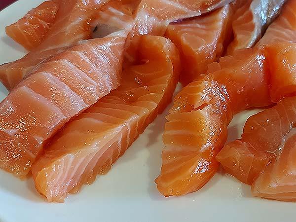 bastones de salmón, fanfood, lomos de salmon fresco