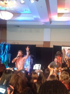 Shirtless Sebastian belts out Eskimo