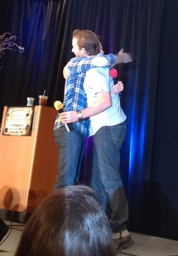 A heartfelt Rob and Richard hug. Awwww.