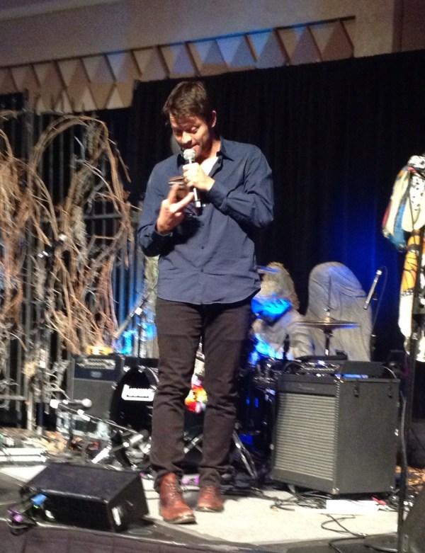 Misha steals - err, borrows - a fan's phone