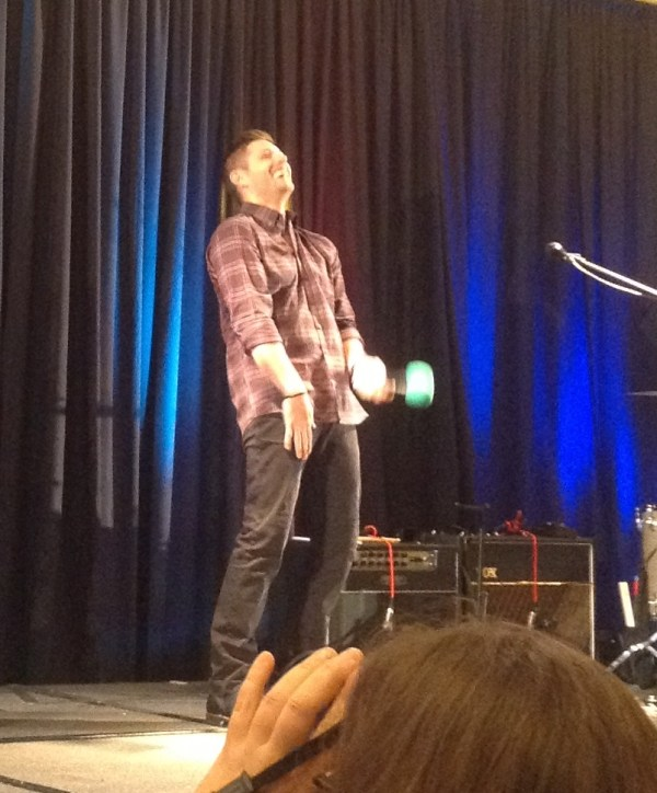 Jensen's reaction to the 'how long is your' question