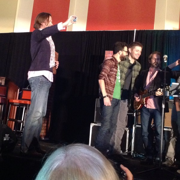 Collaboration - Jensen sings while Jared films