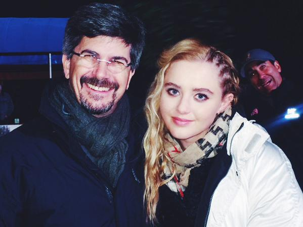 Kathryn Newton with director Guy Norman Bee