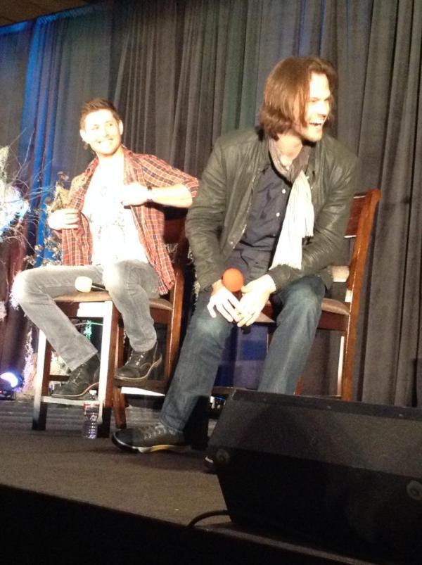Jensen unbuttons his shirt...