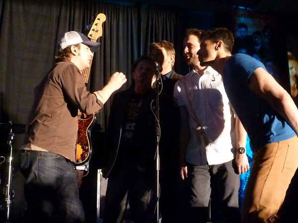 Richard, Curtis, Mark P, Gil and Matt back up Rob