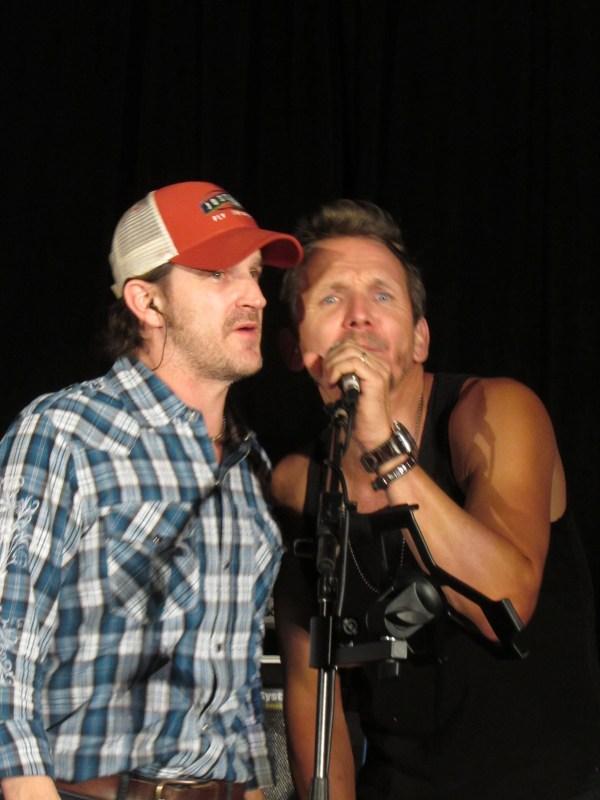 Richard and Sebastian sing backup