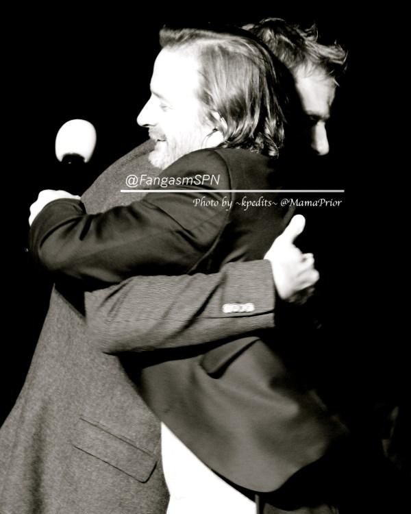 A Mark and Rich hug