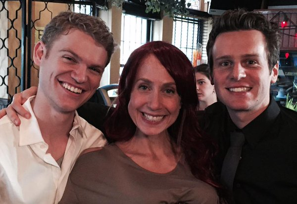 Laura Jordan with Peter Graham and Jonathan Groff of OTP