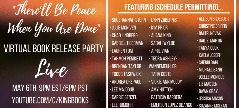 A Supernatural Celebration! Book Launch Party for There'll Be Peace When You are Done