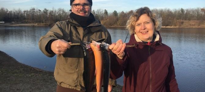 Mjøls Lystfiskeri: Aftensmaden blev fanget i dag