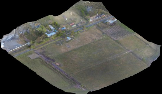 Aerial Map from an angle