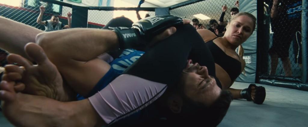 Ronda Rousey wrestling in Entourage