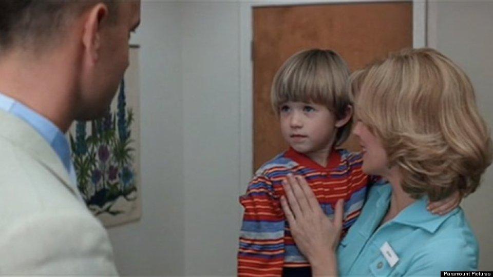 Haley Joel Osment as a little boy in Forrest Gump
