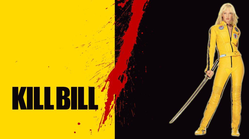 Kill Bill movie poster starring Uma Thurman as the Bride