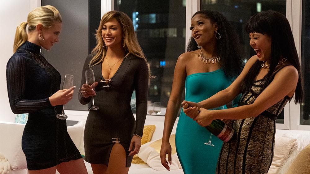 Jennifer Lopez, Constance Wu, Keke Palmer, and Lili Reinart in Hustlers