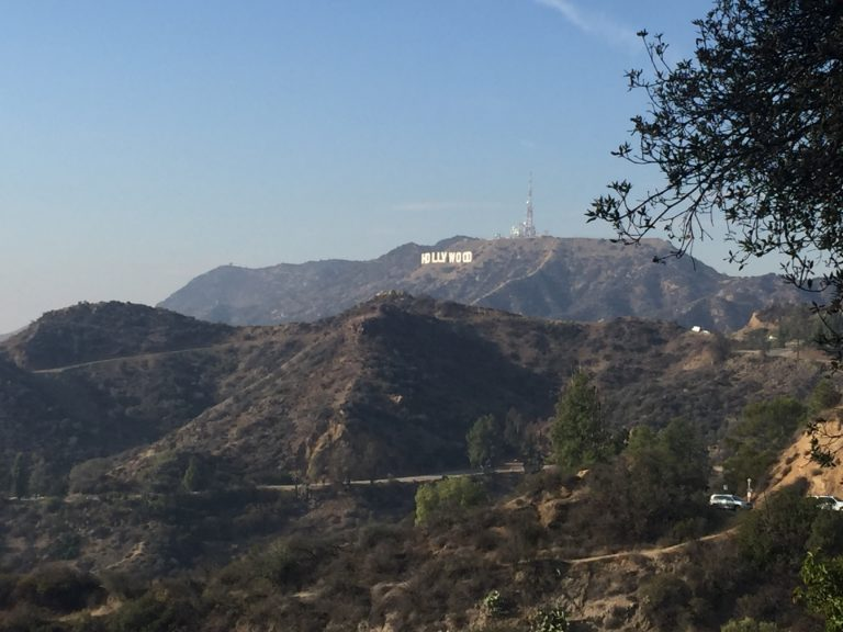 hollywood sign view from griffith observatory