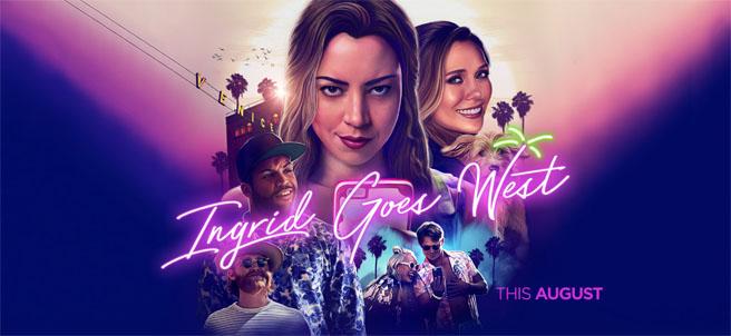 Ingrid Goes West movie poster with Elizabeth Olsen and Aubrey Plaza