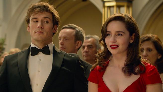 Sam Claflin side-eyeing Emilia Clarke in Me Before You
