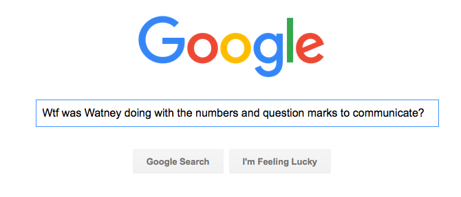 Google Search for Watney communicating in The Martian