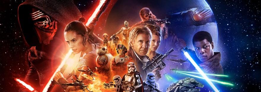 The Force Awakens Movie Poster light and dark