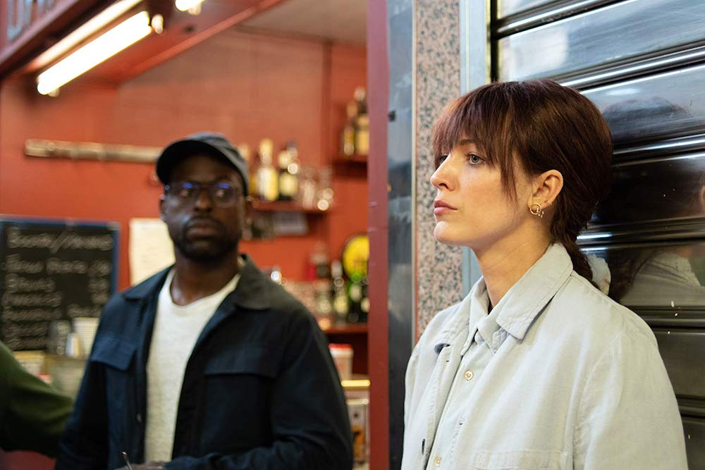 Blake Lively and Sterling K. Brown in The Rhythm Section