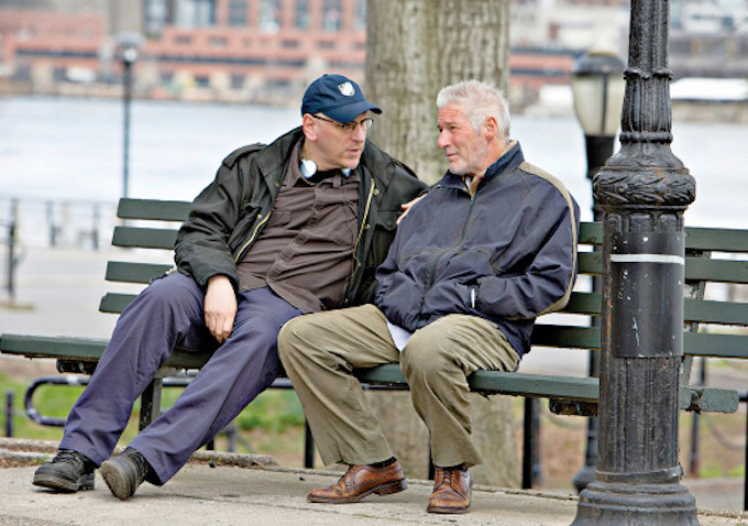 Oren Moverman directing Richard Gere in Time Out Of Mind