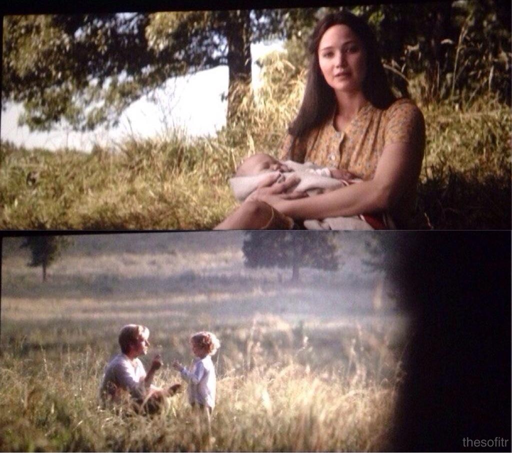 Katniss and Peeta end credit scene The Hunger Games Mockingjay