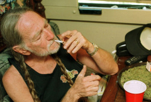 willie nelson smoking a joint