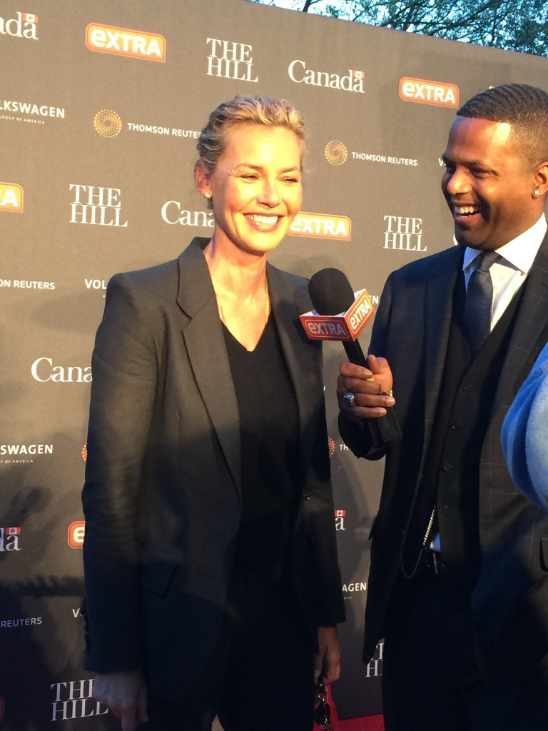 Connie Nielsen at WHCD Party at Canadian Embassy