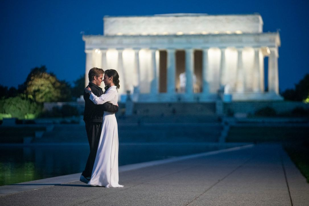 Diana Prince and Steve Trevors at Reflecting Pool DC