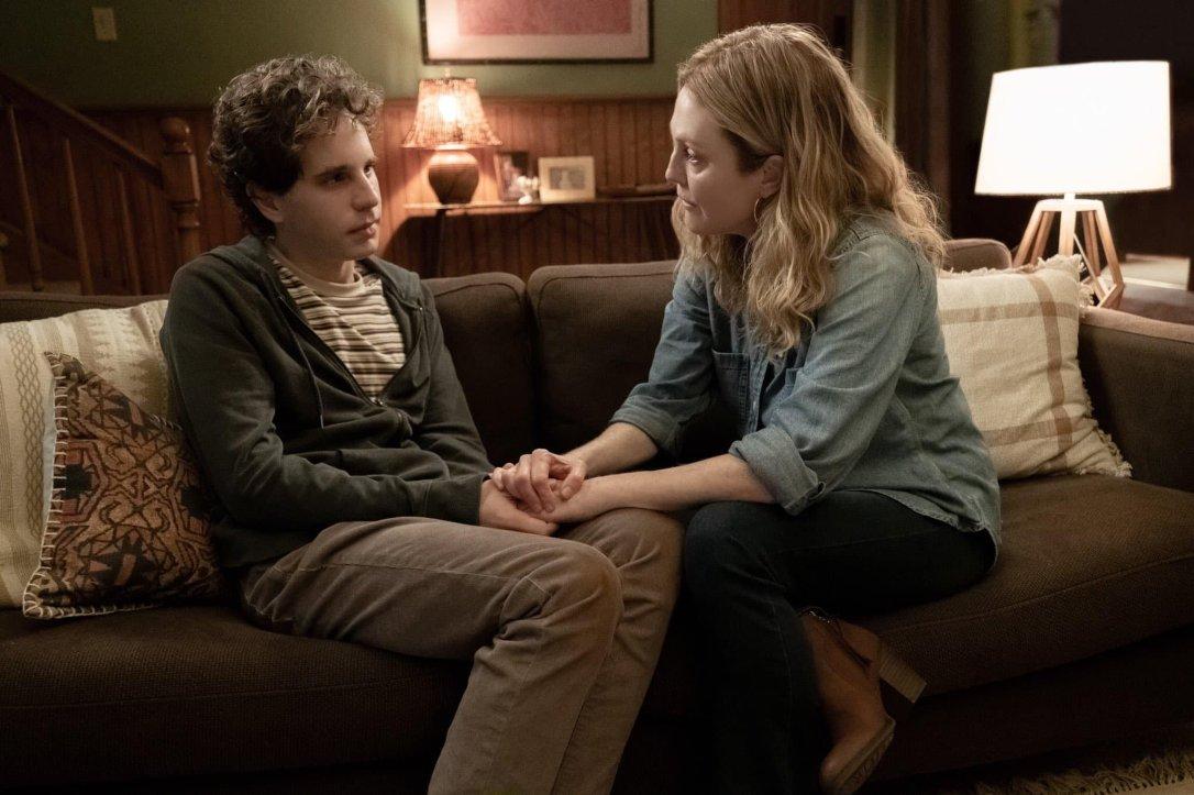 Ben Platt and Julianne Moore in Dear Evan Hansen