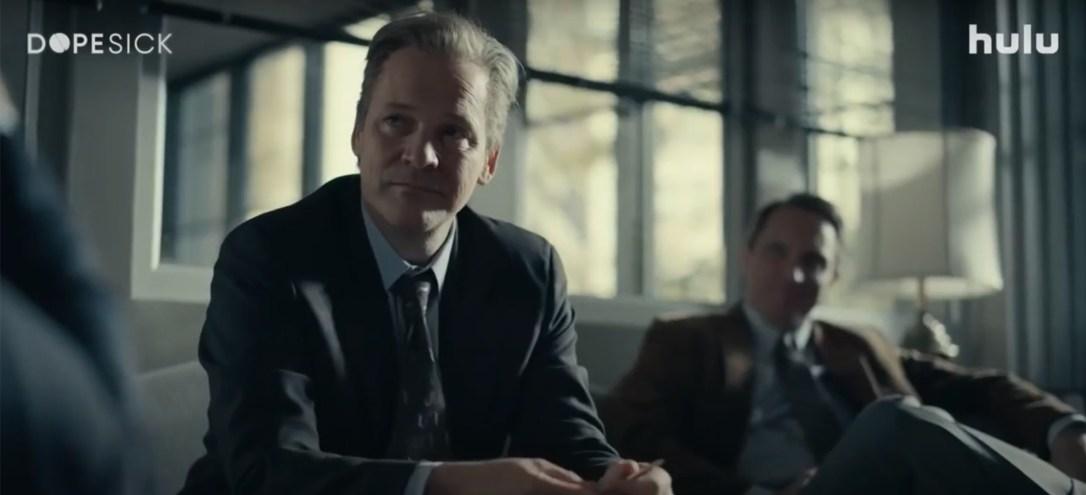 Peters Sarsgaard and John Hoogenakker in Hulu's Dopesick