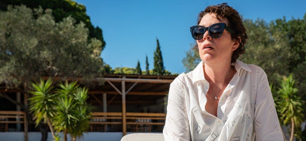 Olivia Colman on the beach in The Lost Daughter
