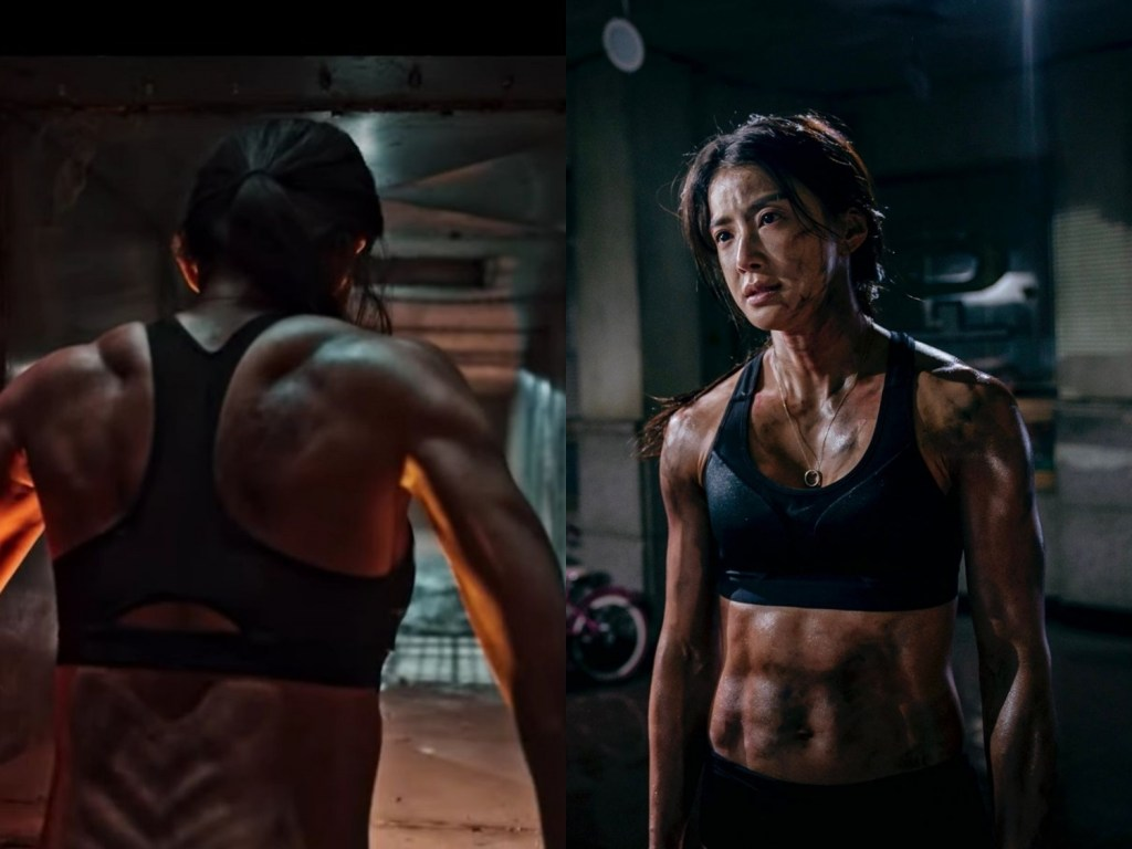 5 Actresses Who Made Us Swoon with Their Buff Arms. Pictured: Lee Si-Young from Sweet Home.