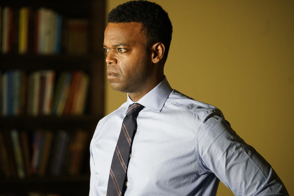 """LAW & ORDER: SPECIAL VICTIMS UNIT -- """"And the Empire Strikes Back"""" Episode 23001 -- Pictured: Demore Barnes as Deputy Chief Christian Garland -- (Photo by: Bennett Raglin/NBC)"""