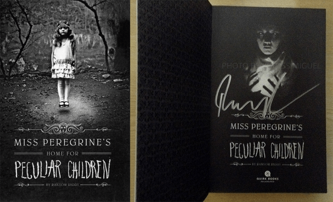 Miss Peregrine's Home for Peculiar Children signed copy