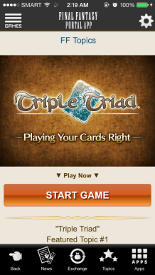 triple triad ios start screen