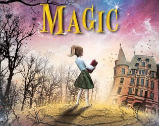 Cover for Ordinary Magic by Caitlen Rubino-Bradway Abby holding schoolbooks