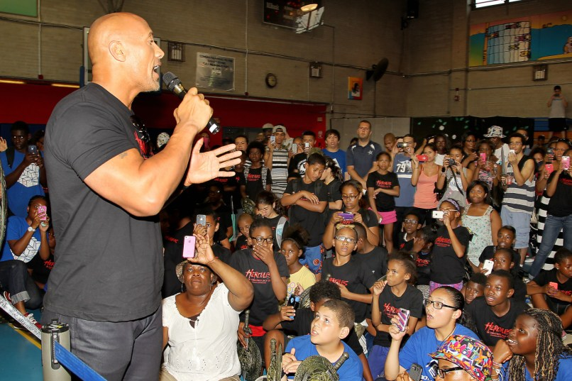 "Dwayne Johnson Star of ""HERCULES"" Surprised Hundreds of Fans From Local New York Youth Organizations"