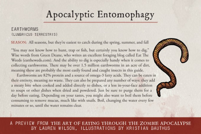 A guide to Apocalyptic  Entomophagy
