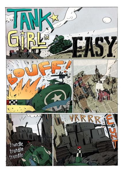 21st Century Tank Girl #1 Preview Page 2