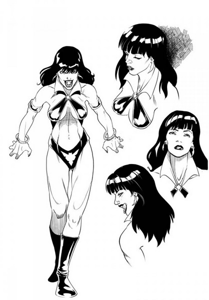 Sketch for Aliens/Vampirella