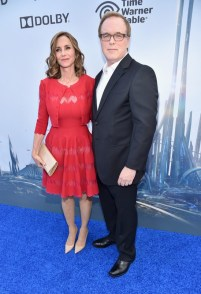 "ANAHEIM, CA - MAY 09: Director/writer/producer Brad Bird (L) and editor Elizabeth Canney attend the world premiere of Disney's ""Tomorrowland"" at Disneyland, Anaheim on May 9, 2015 in Anaheim, California. (Photo by Alberto E. Rodriguez/Getty Images for Disney) *** Local Caption *** Brad Bird;Elizabeth Canney"